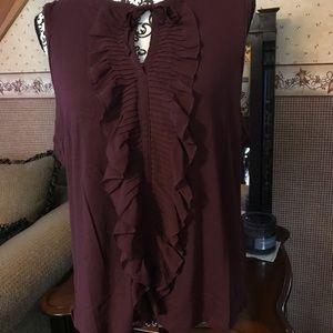 Loft sleeveless blouse- XL
